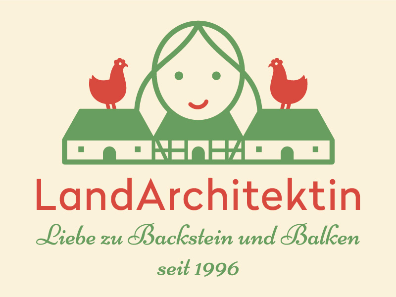 Logo LandArchitektin: Bild- und Textkombination,